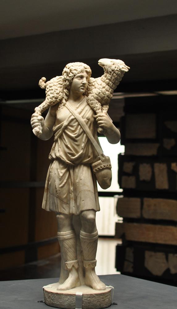 The Good Shepherd Statue In The Vatican Museums